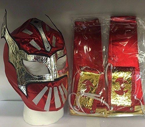 rschluss Ringer Maske Mit 2 Arm Ärmel Für Kinder (Sin Cara Kostüm Für Kinder)