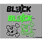 PEGATINAS KEN BLOCK R77 VINILO ADESIVI DECAL AUFKLEBER КЛЕЙ STICKERS CAR VOITURE SPORT RACING (NEGRO VERDE/BLACK GREEN)