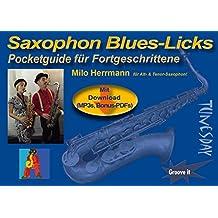 Saxophon Blues-Licks - Pocketguide mit Noten & MP3s zum Download + Bonus-PDF