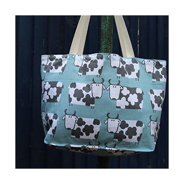 Silly Cow Print Beach Bag or Shopping Bag - handmade-bags