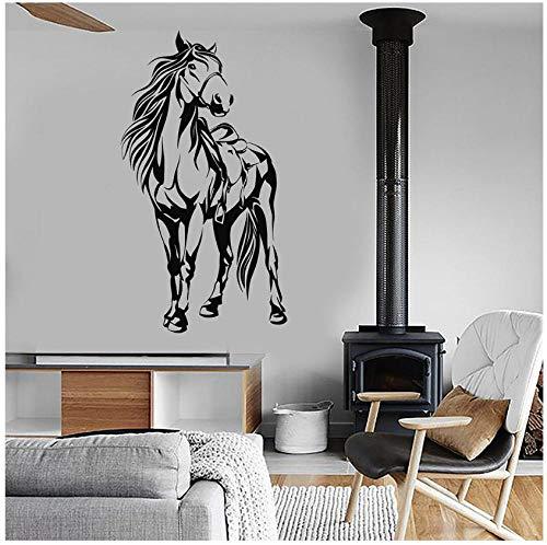 Pferdesattel Tier vinyl aufkleber wand wohnkultur wohnzimmer aufkleber diy kunst wandtapete 57 * 104 cm