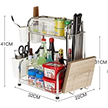 Estantería de cocina Estante de almacenamiento de acero inoxidable Estante de almacenamiento Estante Picking de pared Soporte de piso Tablero de corte ( Color : A )