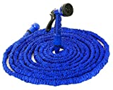 DIKETE® Tubo di acqua di alta qualità set con ugello di spruzzo per Campeggio indoor all'aperto blu 15 m/50 ft - ingombro ridotto di Tubi irrigazione, tubo flessibile da giardino