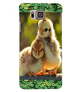 ColourCraft Love Birds Design Back Case Cover for SAMSUNG GALAXY ALPHA G850