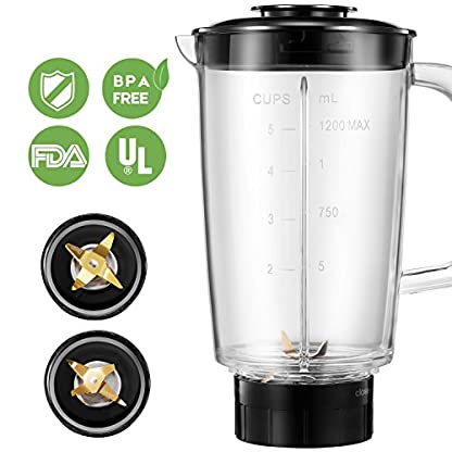 Standmixer-Decen-Blender-4-in-1-Multifunktion-Smoothie-Maker-Ice-Crusher-Kaffeemhle-mit-600ml-Sport-Flasche-BPA-frei-Tritan-Mixer-300W-24000UMin