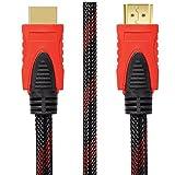 6ft High Speed HDMI Kabel, 4K HDMI 2.0 Stecker auf Stecker Kabelkabel, vergoldeter HDTV Anschluss für Computer, PS3, PS4, Xbox, Xbox One, TV, TV Box