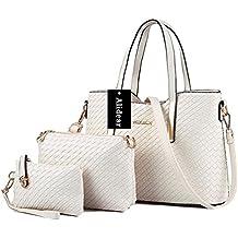 Alidear Moda Mujeres Bag Bolsos bandolera Mutil Function Bag Crossbody Bag Tote Carteras de mano Pu Set de 3 bolsas