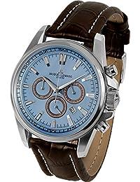 Jacques Lemans Herren-Armbanduhr Liverpool Analog Quarz Leder 1-1117SN