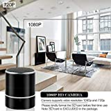 WIFI Spy Cameras Speaker 1080P HD Hidden Camera Speaker with 180° Rotatable Lens, Motion Detection Alarm Push, Real-Time View, 128G Loop Record