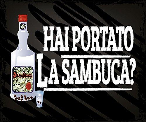 ZERBINO HAI PORTATO LA SAMBUCA CM. 60x50 TAPPETO FELTROGOMMA ASCIUGA SPORCO