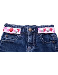 Clip-Ho Clipho Kindergürtel Gürtel ohne Schnalle Herzen rosa/pink Gr. 74 - 182