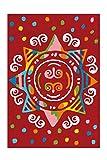 Arte Espina Teppich Spirit Glowy 3145 Rot Mandala 110cm x 160cm