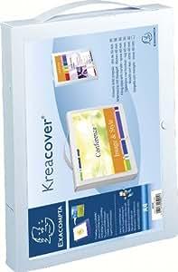 Exacompta Kreacover 5925E Valisette à poignée Opaque 8/10e Blanc