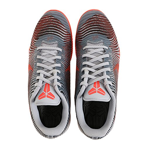 Nike Herren Kb Mentality Ii Basketballschuhe, Large Grau (Wolf Grey / Bright Crimson-Black)
