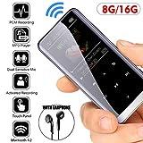 fang FANS MP3 Player Bluetooth,Mp3 Player,MP3-Player Musik-Player Mit kompatibel HiFi,Digitales Audio-Player integrierte Kapazität 8/ 16GB mit FM Radio, CNC Metall eins,5D Ton Portabler Player
