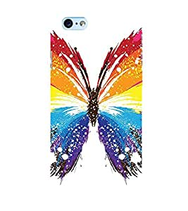 Takkloo colourful butterfly ( cute insect, colourful wings, white background, white spotted wings) Printed Designer Back Case Cover for Apple iPhone 6S