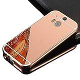 Vandot Caso Funda Carcasa para HTC ONE M8, Lujo Ultrafino del Metal de Aluminio Espejo Efecto PC...