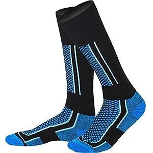 HATCHMATIC Outdoor-Winter-Warmer Thermal Ski Stocking Lauf Snowboard Camping Wandern Soccer Soft Socken Dickere Radfahren Unisex-Socken: Blau