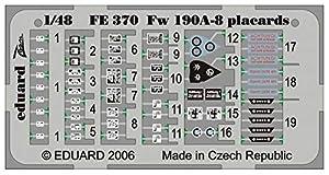 Eduard Accessories FE37030502000FW 190a de 8placards para Eduard de Montar