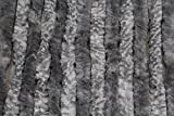 Flauschvorhang/Türvorhang/Fliegenschutz silber grau aus Chenille 100 x 200 cm
