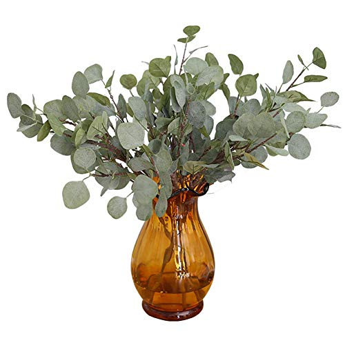 �nstliche Eukalyptus Grün Hochzeit Dekor Anlage DIY Brautstrauß Kranz Grau Weiß Langlebig und Nützlich ()