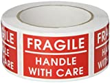 TapeCase SHIPLBL-036 'Fragile Handle With Care' Label - 500 per pack