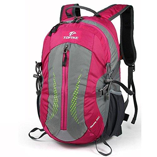 ALUK-Lesbiche borsa del computer spalla sacchetto di svago e viaggi d'affari all'aperto trekking impermeabile zainetto Rose Red