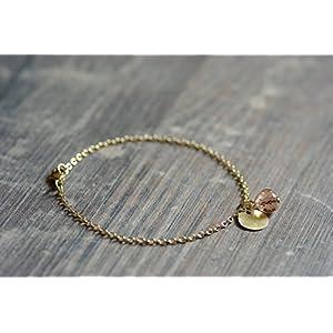 zartes Armband mit kleinem Goldp