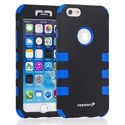 Fosmon Technology () hybo-cage Coque Apple iPhone 6/6S–détachable hybride en silicone et PC pour iPhone 3S/6–Fosmon emballage bleu