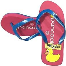 Kiinkaa Girls Casual Dailywear Flat Heal Slipper (Size: 24-36 for Age Group 2-10 Years)