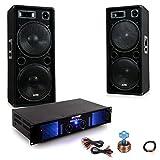 etc-shop 3000W PA Party Musikanlage Boxen Verstärker Lautsprecher Audio Kabel DJ-Beststyle 2