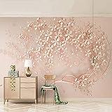 YShasaG Seidenwandbild 3D Wallpaper Abstrakte Kunst Relief Rose Blumen Foto Tapeten Wohnzimmer Wohnzimmer Schlafzimmer Wohnkultur Wandmalerei,350cm*260cm