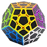 Speed Cube Megaminx 3x3, LSMY Puzzle Mágico Cubo Carbon Fiber Sticker Toy