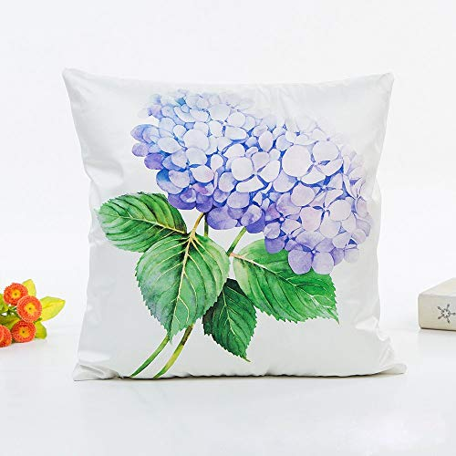 Bobopai Purple Throw Pillows for Couch Flower Pattern Decorative Accent Pillow Cover 45 x 45cm Square Silks White Pillow Sham (Flower 1) Silk Cut Purple