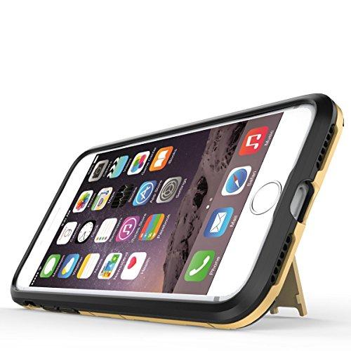 iphone 7 Custodia, Ultra Sottile 2-in-1 Cases Protettivo Estrema Assorbimento-Urti Kickstand Armatura Cover Per iphone 7. (Rosso) Grigio