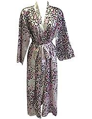 Sock Snob - Robe de chambre femme satin peignoir de bain douce dans de nombreux styles
