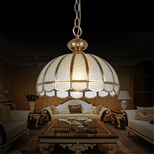 YFF@ILU Europäischen diamond Kronleuchter aus Kupfer restaurant Kupfer Anhänger klein die Studie lampe glas Schatten -