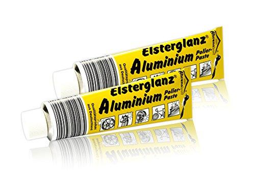 2 x Elsterglanz-Aluminium (35,00 €/L) Polierpaste Politur Riesentube 150ml Paste G Alu Neu