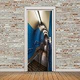 BAIYUDE 2 Pannelli Scale Adesivi murali sotterranei Stickers murali Adesivi Decalcomanie per la casa Decorazione per la casa 77X200CM