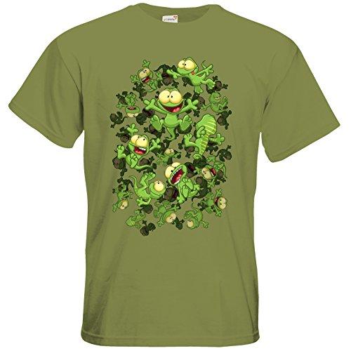getshirts - Gronkh Official Merchandising - T-Shirt - Lurchregen Green Moss