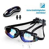 infinitoo Schwimmbrille Antibeschlag UV-Schutz Unisex Schwimmbrillen für Erwachsene Jugendliche mit Verstellbarer Silikonband, Harte