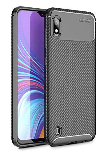 Case Collection Carbonfaser Design Hülle für Samsung Galaxy A10 Hülle (6,2