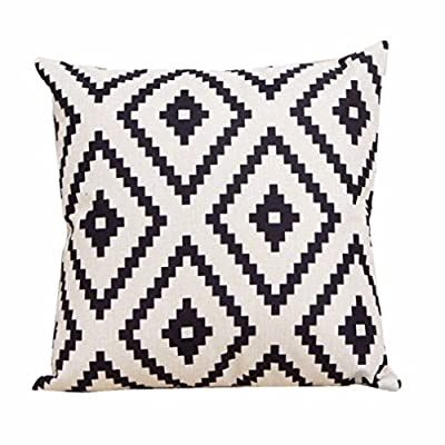 Bessky Home Decor Sofa Linen Throw Pillow Case,45cm x 45cm - cheap UK sofabed shop.