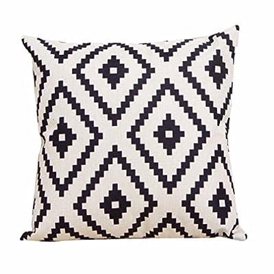 Bessky Home Decor Sofa Linen Throw Pillow Case,45cm x 45cm - cheap UK sofabed shop.
