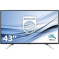 Philips BDM4350UC/00 108 cm (43 Zoll) Monitor (VGA, 2x HDMI, USB Hub, 2x DisplayPort, 3840 x 2160, 60 Hz) schwarz