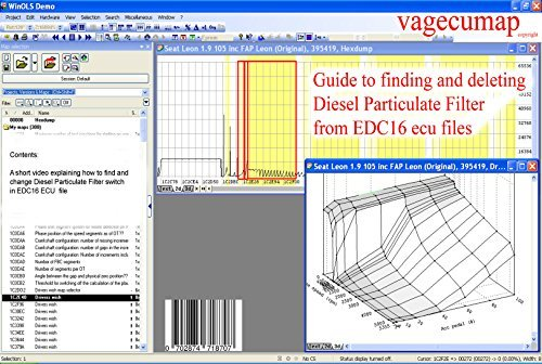 Guide to deleting Diesel Particulate Filter (DPF) from EDC16 ecu files  using winols software