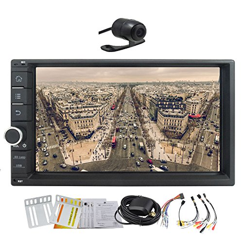 2016 EinCar kein DVD-Player 6.2 Zoll HD 1024 * 600 kapazitiver Touch Screen Android 4.4.4 Auto GPS-Navigation mit 2D-und 3D-Karte in Schlag-Auto-Stereoanlage Quad-Core-Car Entertainment Multimedia R¨¹ckfahrkamera