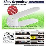 Aditya Polymers 12 Piece Plastic Shoe Organizer, White