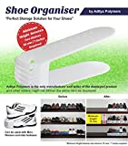 4 PCS. SHOE ORGANIZER / ORGANISER / SHOE SHELF / RACK / SPACE SAVER, STORAGE CUM ORGANIZER / HOME IMPROVEMENT AND HOUSEHOLD UTILITY PLASTIC PRODUCT BY ADITYA POLYMERS, SET of 4 Pcs.