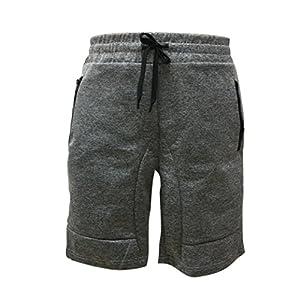 AMUSTER Männer Reißverschluss Tasche Casual elastische Taille Harem Training Jogger Sport Kurze Hosen Kurze Hosen für Sport Fitness Gym Training Freizeit Jogginghose Freizeithose